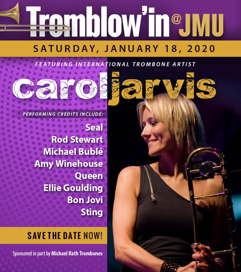 The Guest artists for Tromblowin 2020 is international trombone sensation, Carol Jarvis