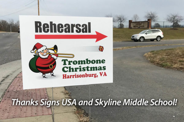 Thanks to Signs USA and Skyline Meddle School for rehearsal space